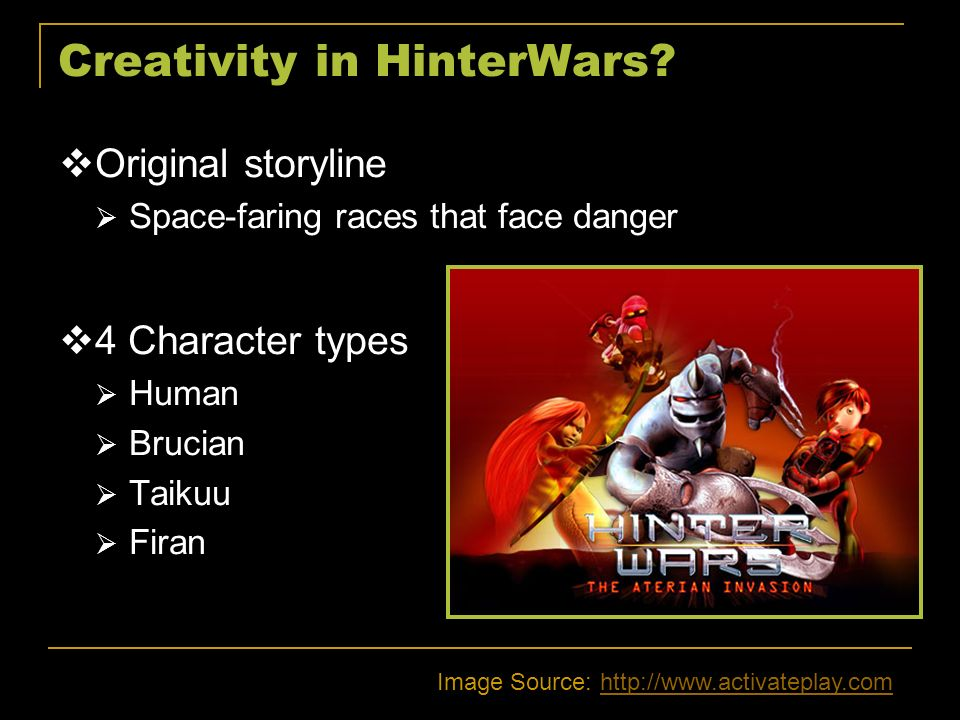 Creativity in HinterWars