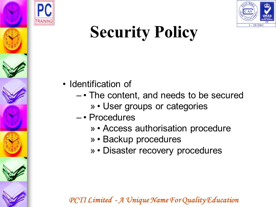 Security Policy Identification of