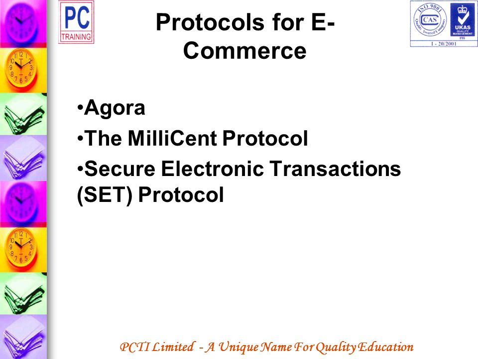 Protocols for E-Commerce