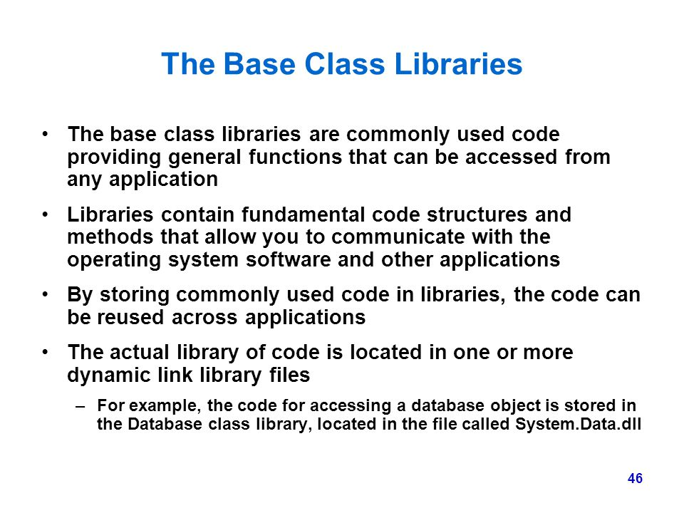 The Base Class Libraries