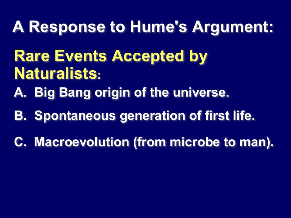 A Response to Hume s Argument:
