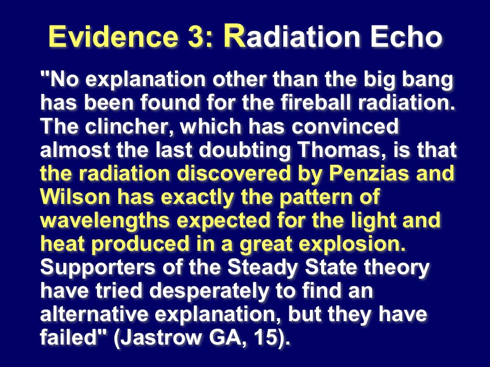 Evidence 3: Radiation Echo