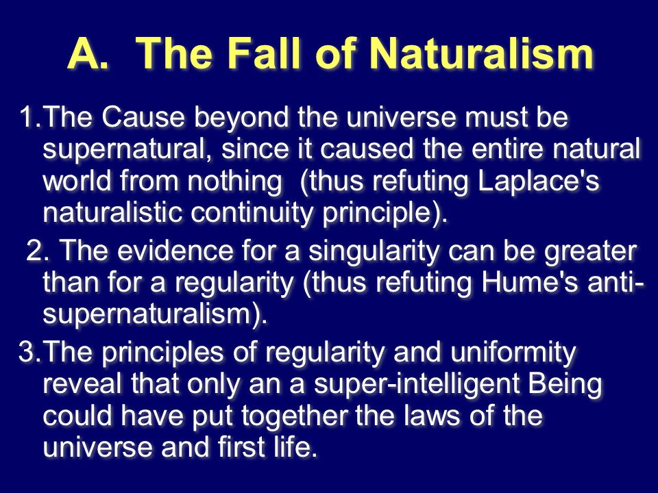 A. The Fall of Naturalism