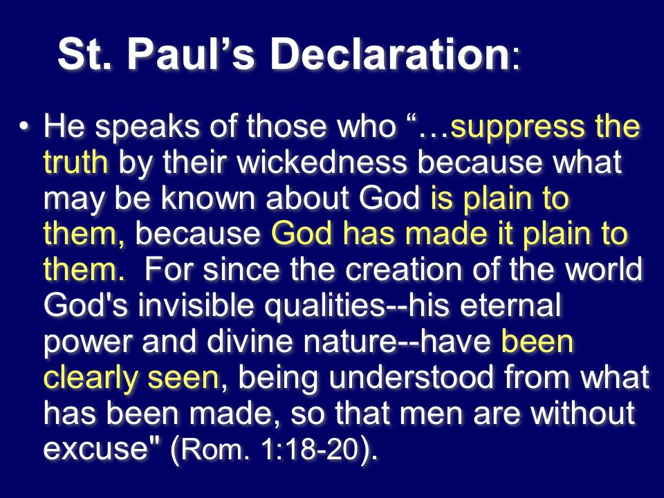 St. Paul's Declaration: