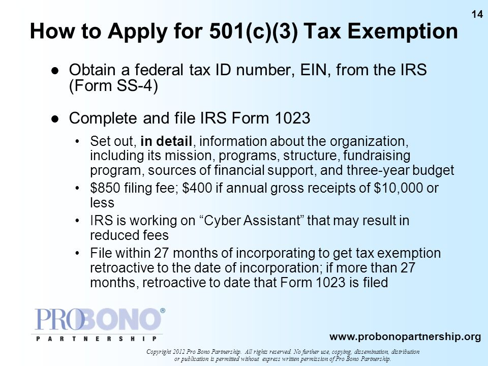 How to Apply for 501(c)(3) Tax Exemption