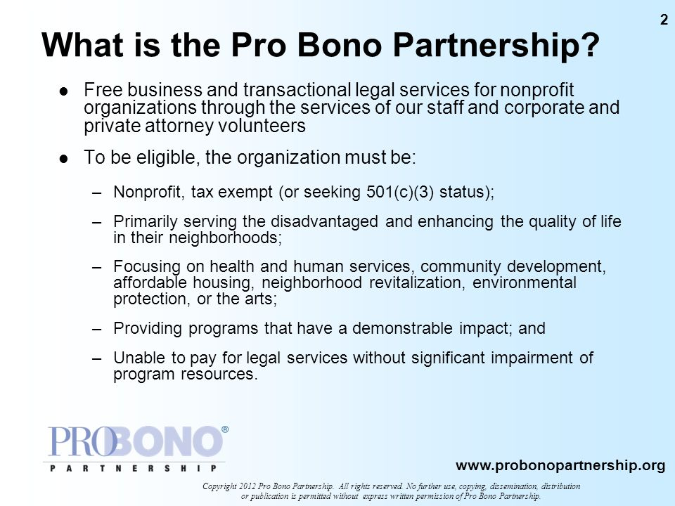 What is the Pro Bono Partnership