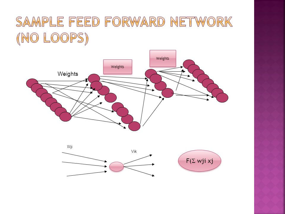 Sample Feed forward Network (No loops)