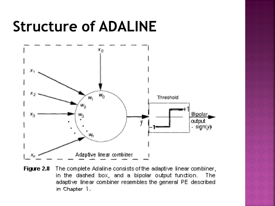 Structure of ADALINE
