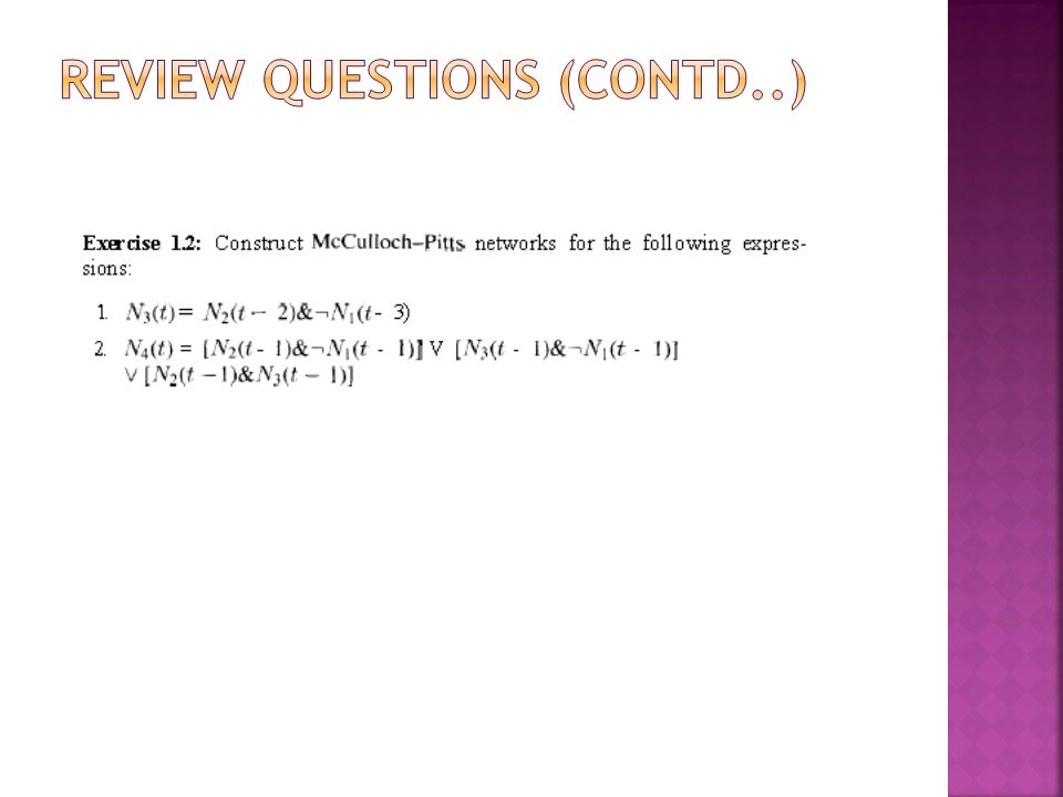 Review questions (contd..)