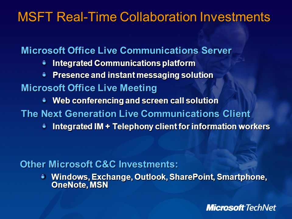 MSFT Real-Time Collaboration Investments