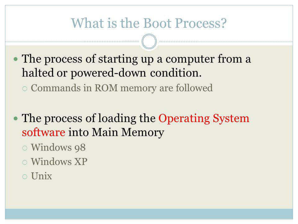 What is the Boot Process