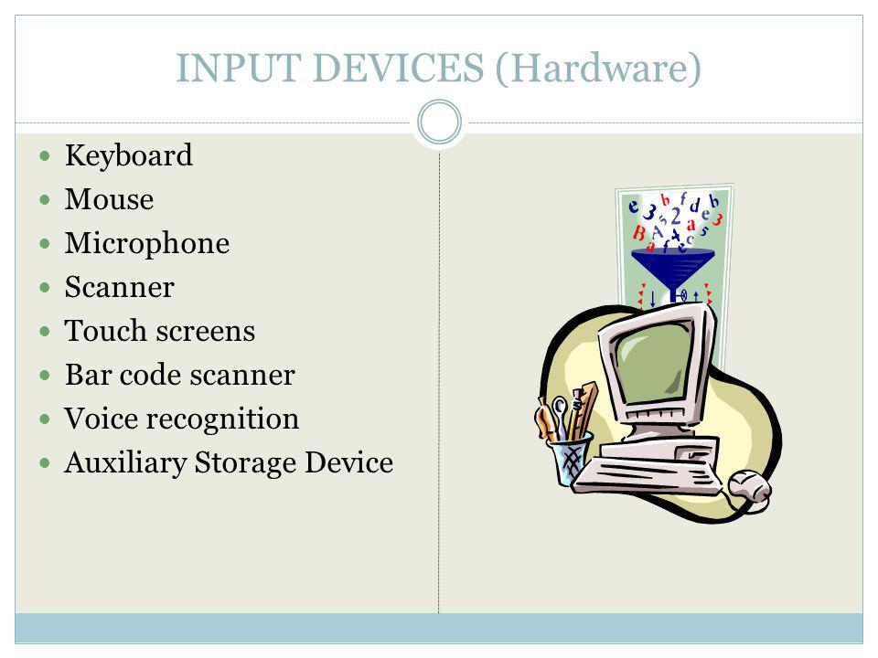 INPUT DEVICES (Hardware)