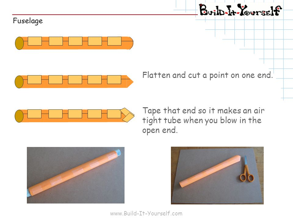 Flatten and cut a point on one end.