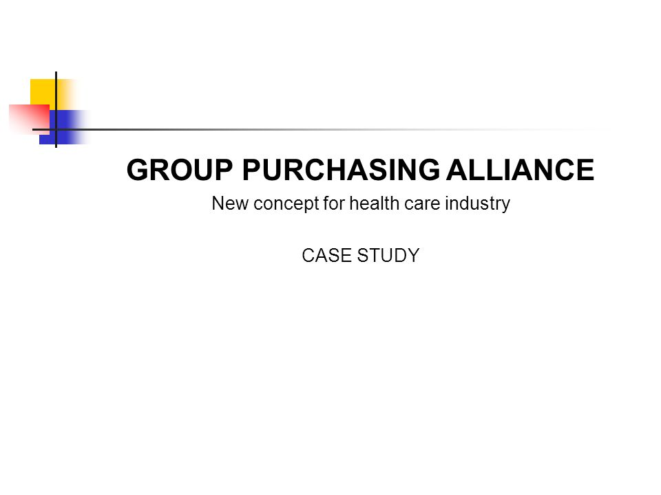 GROUP PURCHASING ALLIANCE