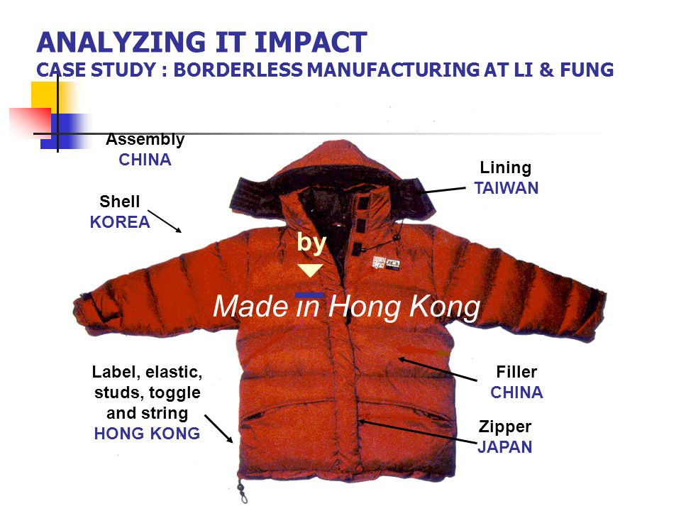 ANALYZING IT IMPACT CASE STUDY : BORDERLESS MANUFACTURING AT LI & FUNG