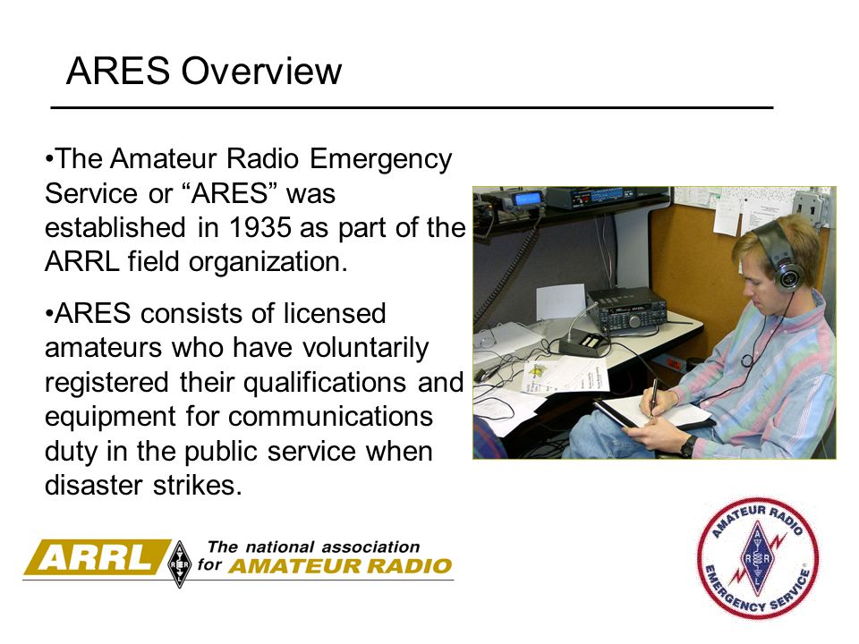 Introduction to the Amateur Radio Emergency Service (ARES