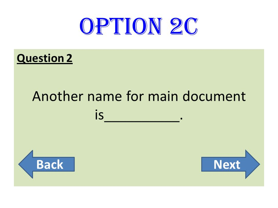 Another name for main document is__________.