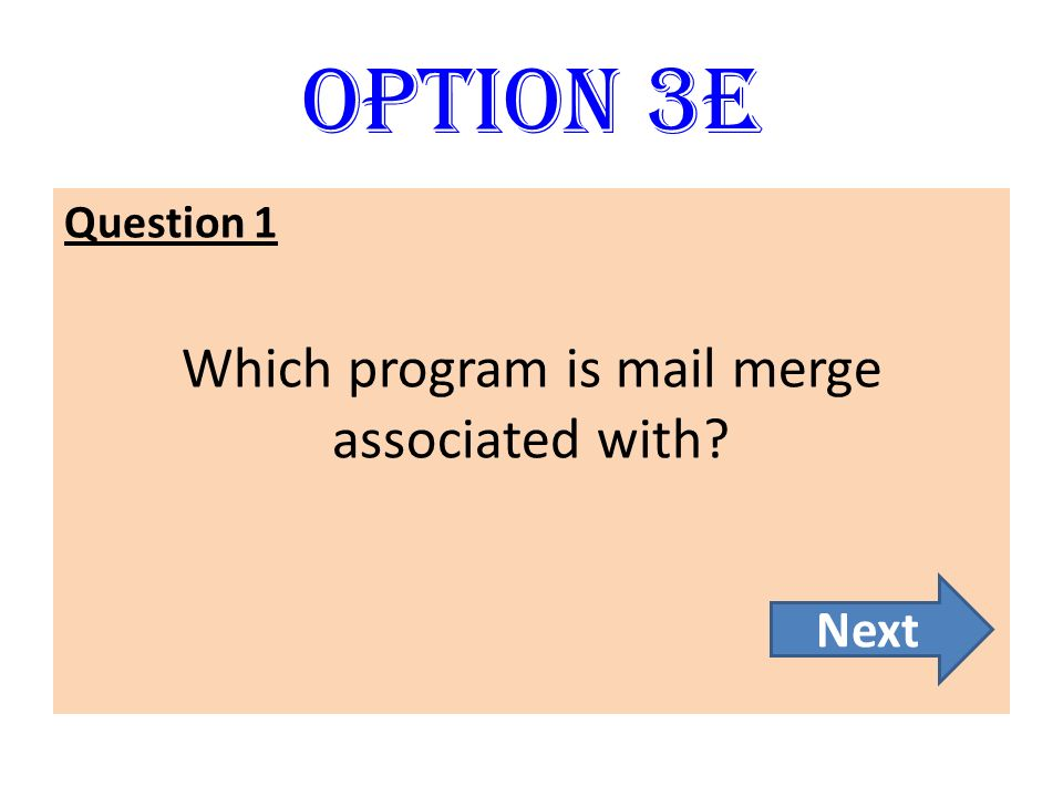 Which program is mail merge associated with