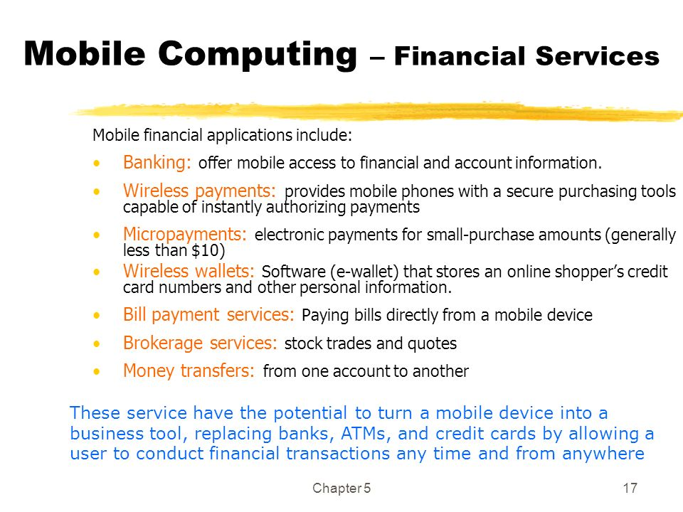 Mobile Computing – Financial Services