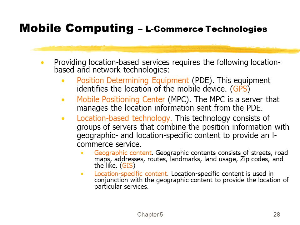Mobile Computing – L-Commerce Technologies