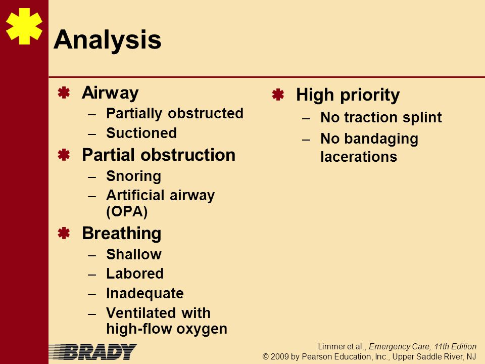 Analysis Airway Partial obstruction Breathing High priority