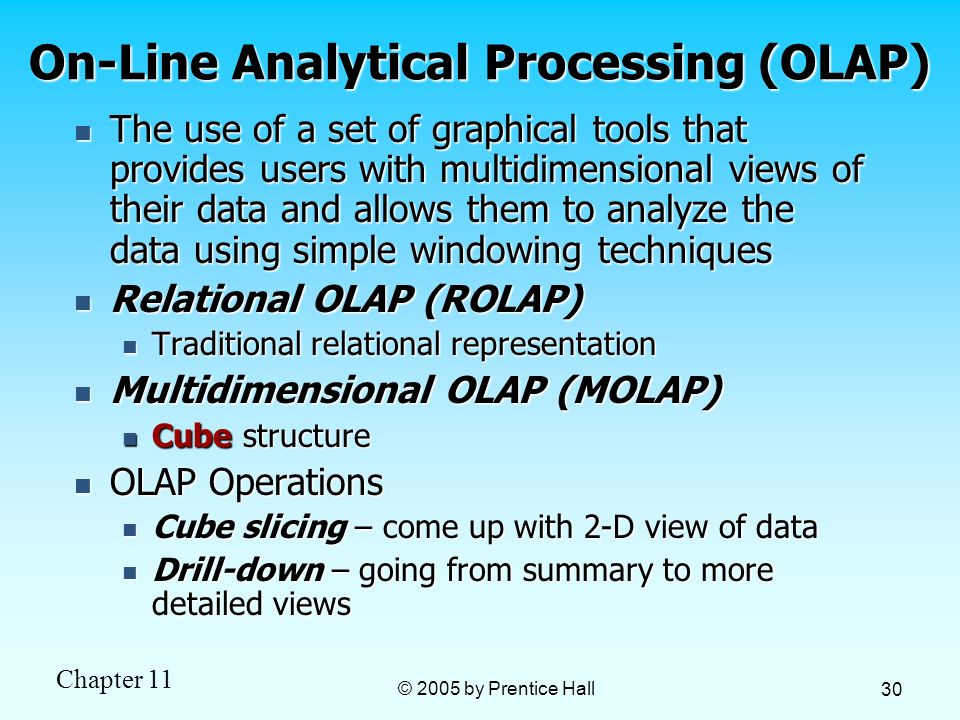 On-Line Analytical Processing (OLAP)