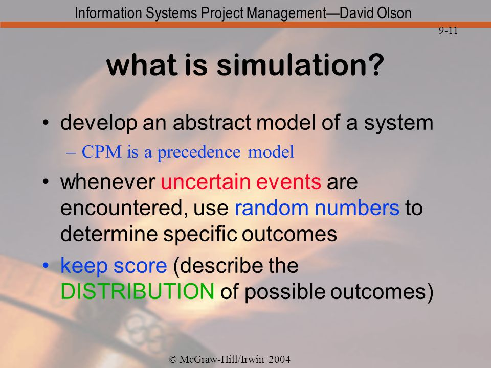what is simulation develop an abstract model of a system