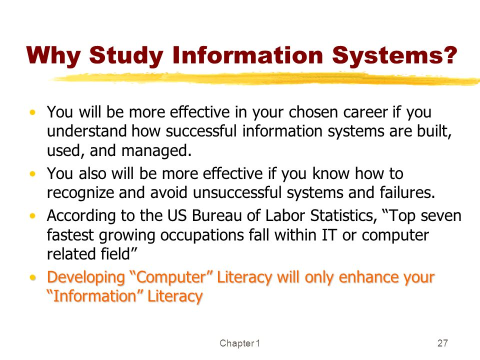 Why Study Information Systems