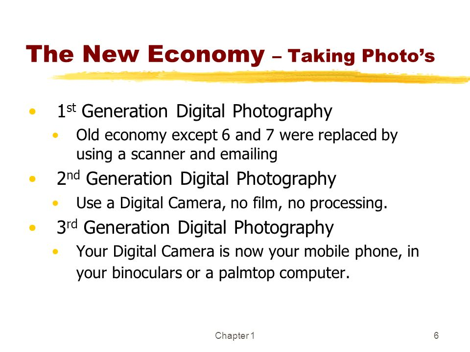 The New Economy – Taking Photo's