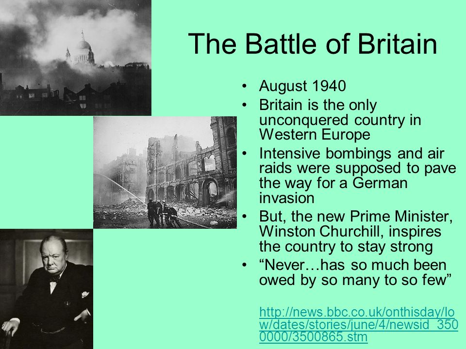 The Battle of Britain August 1940
