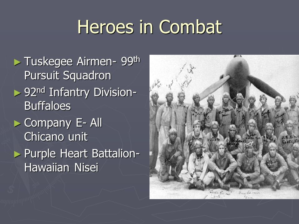 Heroes in Combat Tuskegee Airmen- 99th Pursuit Squadron