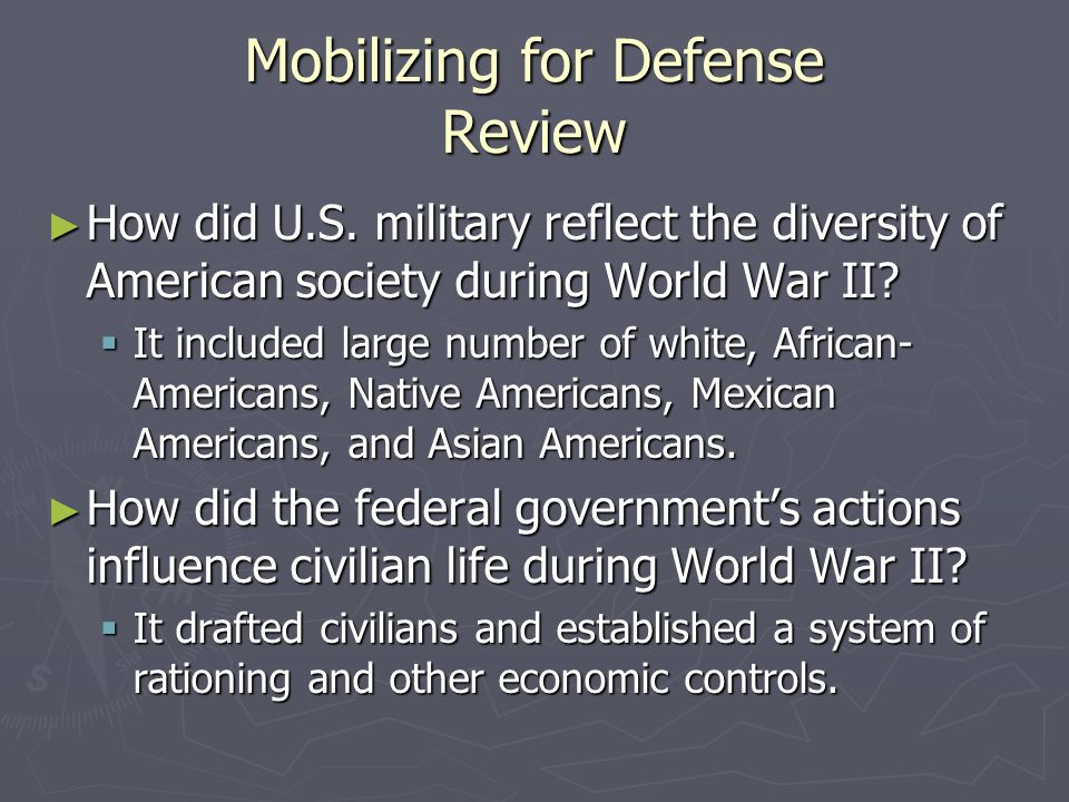Mobilizing for Defense Review
