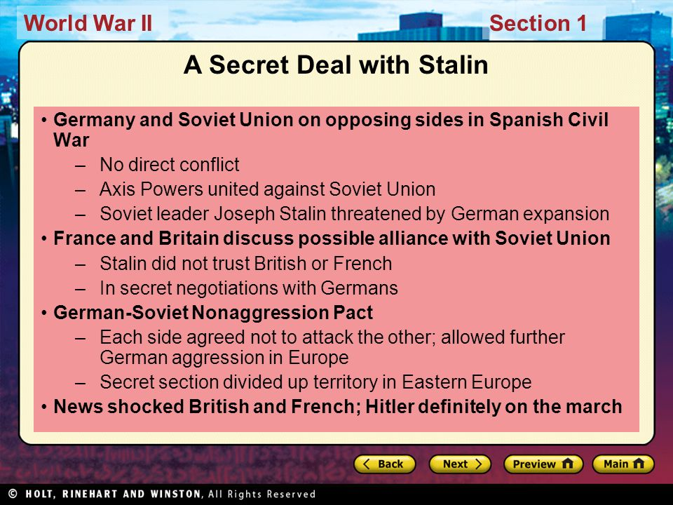A Secret Deal with Stalin
