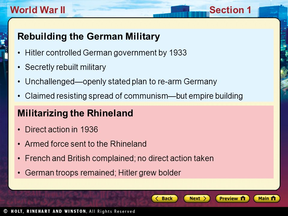 Rebuilding the German Military