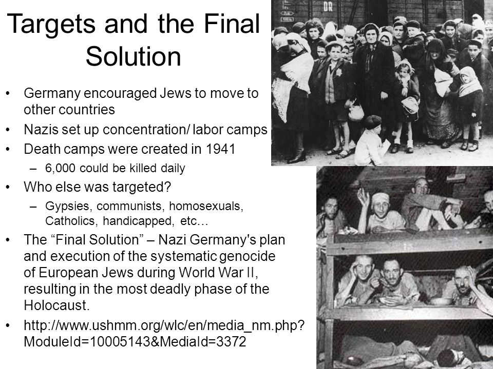 Targets and the Final Solution