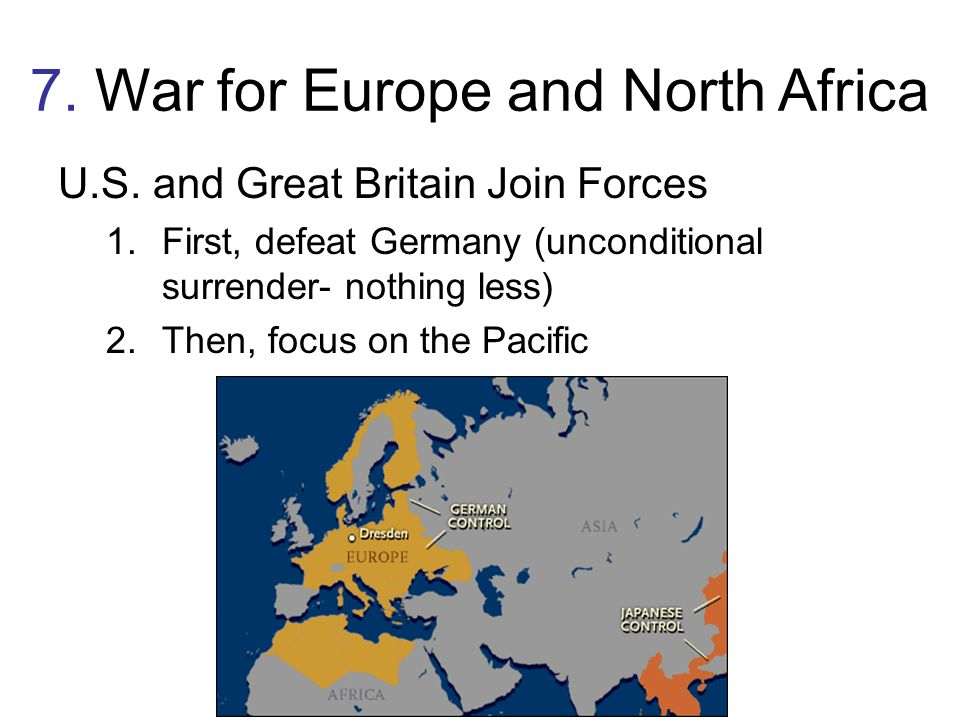 7. War for Europe and North Africa