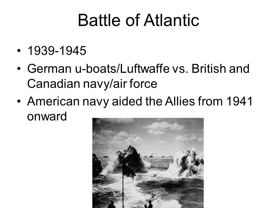 Battle of Atlantic 1939-1945. German u-boats/Luftwaffe vs.
