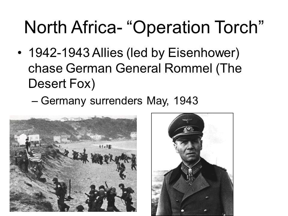 North Africa- Operation Torch