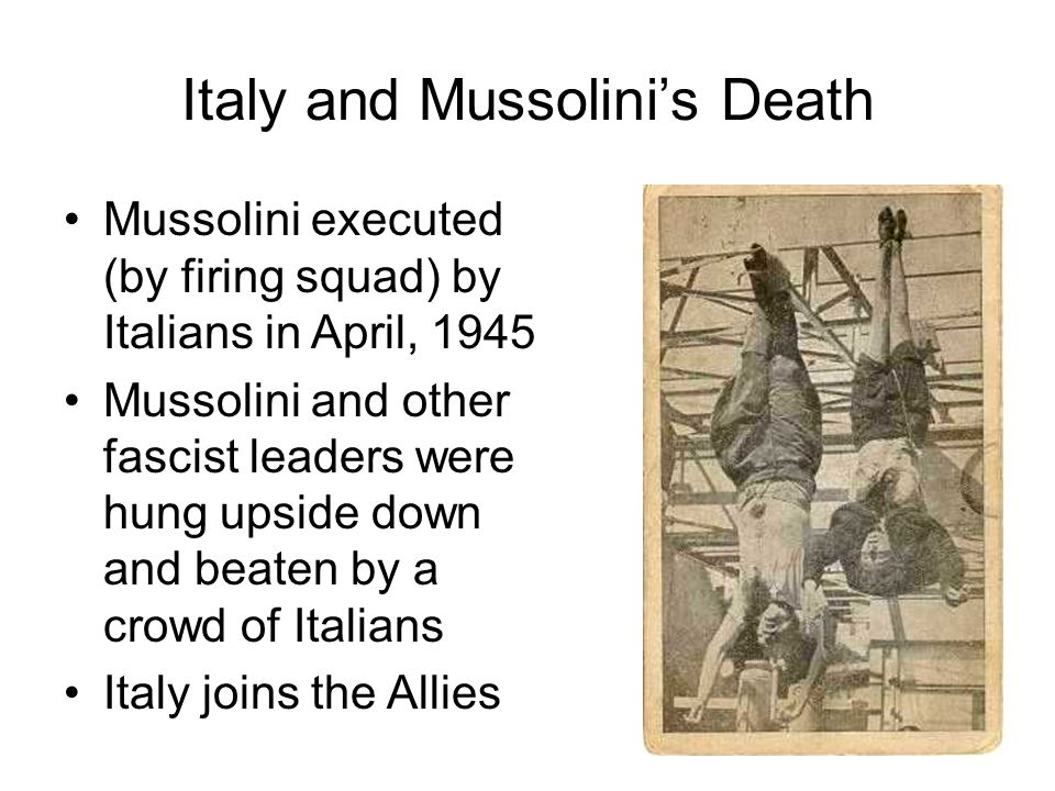 Italy and Mussolini's Death