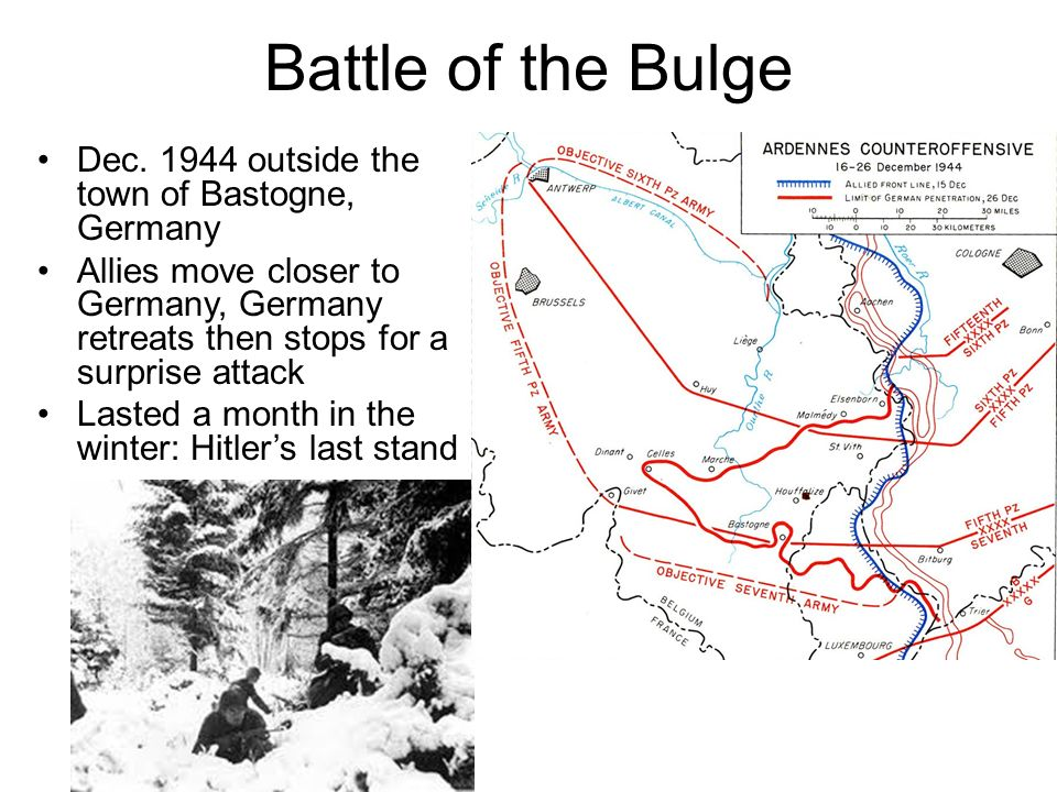 Battle of the Bulge Dec. 1944 outside the town of Bastogne, Germany