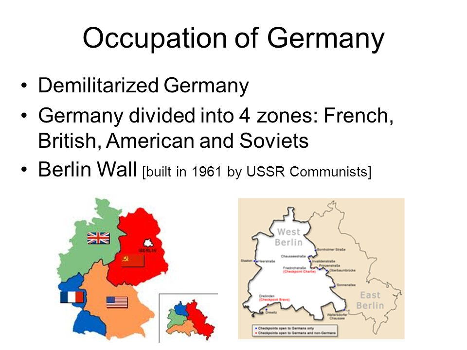 Occupation of Germany Demilitarized Germany