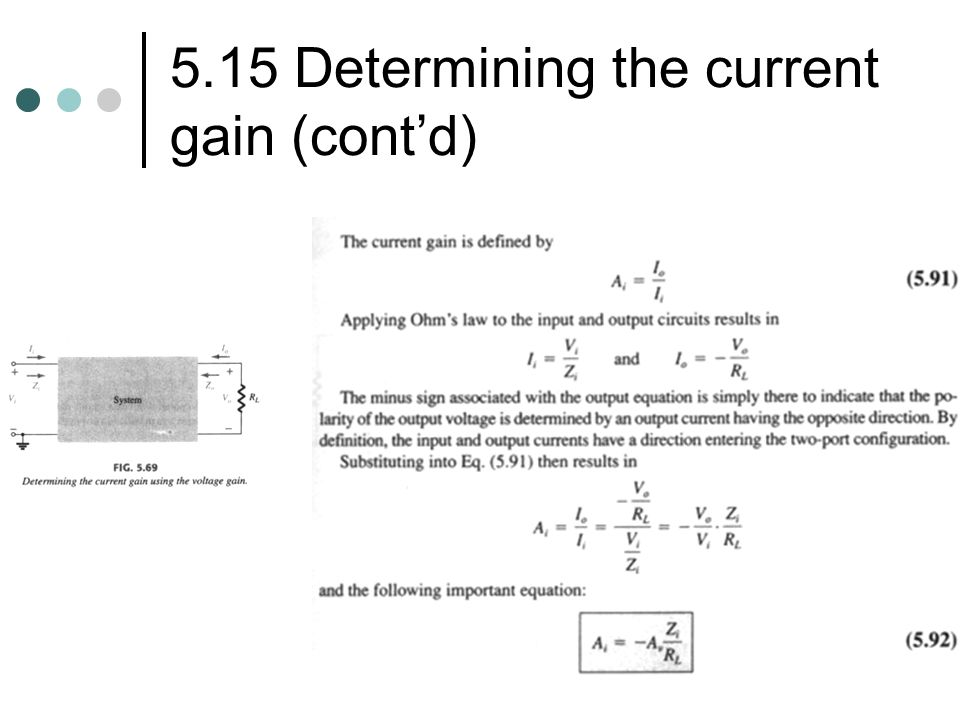 5.15 Determining the current gain (cont'd)