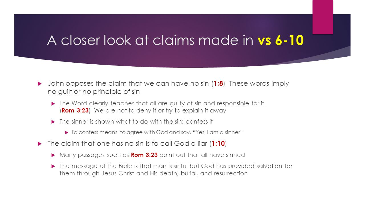 A closer look at claims made in vs 6-10