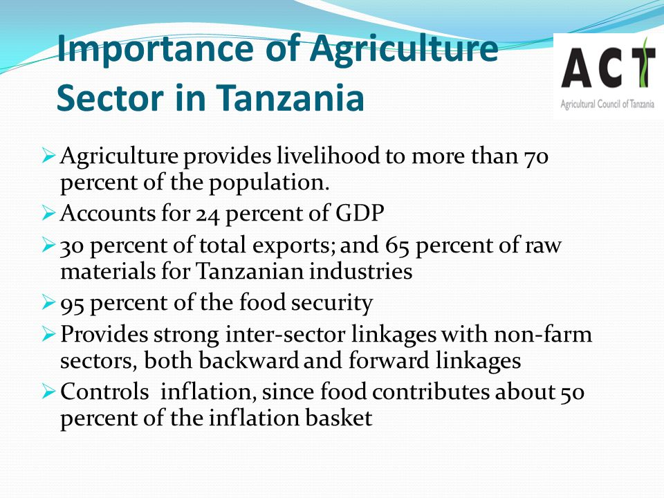 Importance of Agriculture Sector in Tanzania