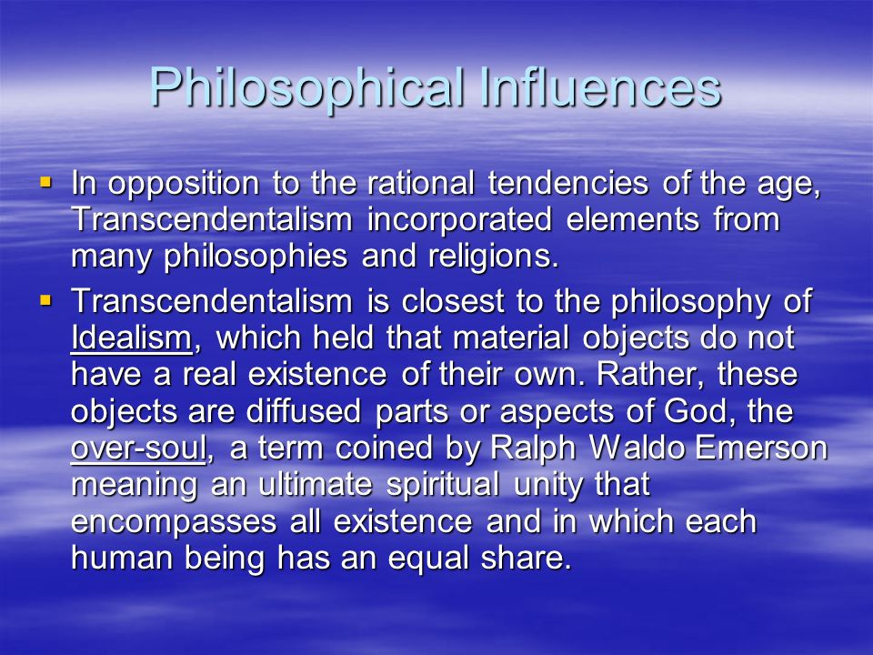Philosophical Influences