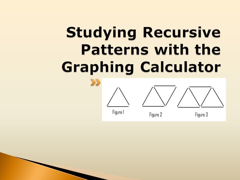 Studying Recursive Patterns with the Graphing Calculator