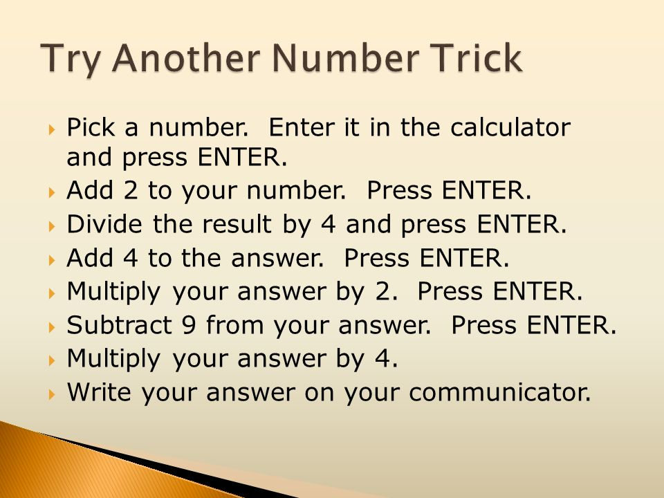 Try Another Number Trick