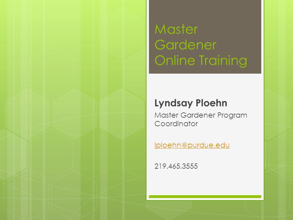 Master Gardener Online Training