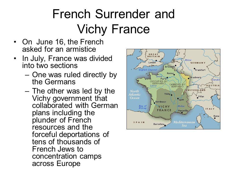 French Surrender and Vichy France