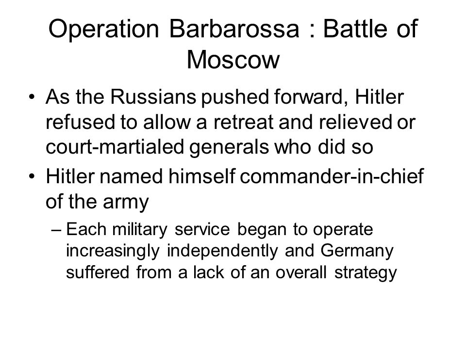 Operation Barbarossa : Battle of Moscow